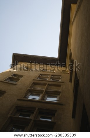 The old Traboules in Lyon, France - stock photo