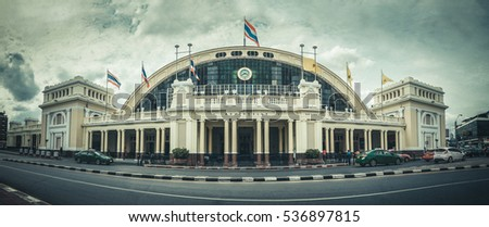 The Old Train Station in Bangkok