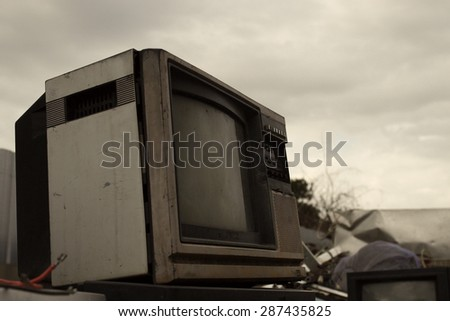 The old TV - stock photo