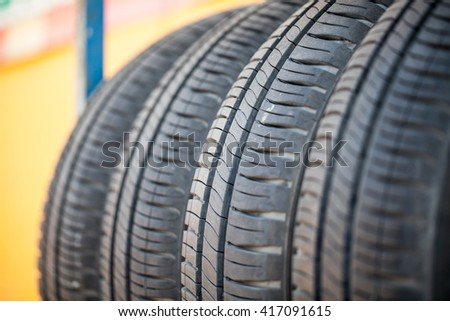 The old used car tires