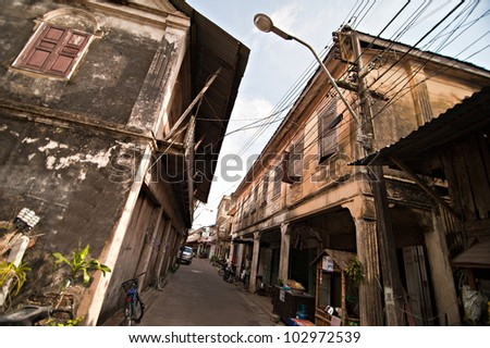 The old village in Thailand - stock photo