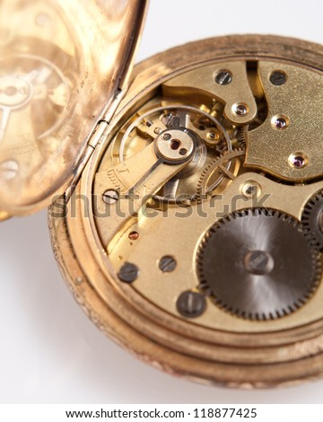 The old watch inside - stock photo