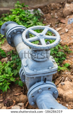 The old water valve - stock photo