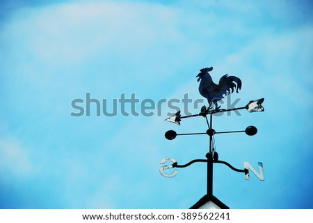 The old weather vane - stock photo