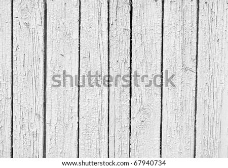 the old Weathered white wooden textured background - stock photo
