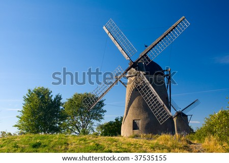The old windmill in Visby, Gotland