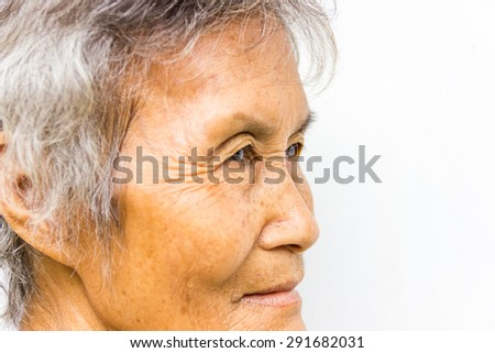 The old woman 's face - stock photo