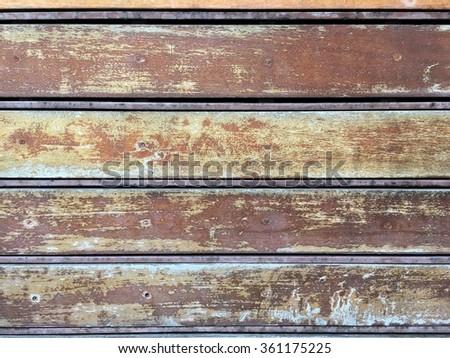 The old wood door - stock photo