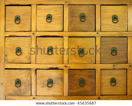 the old wooden drawer - stock photo