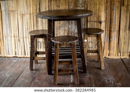 The old wooden furniture - stock photo