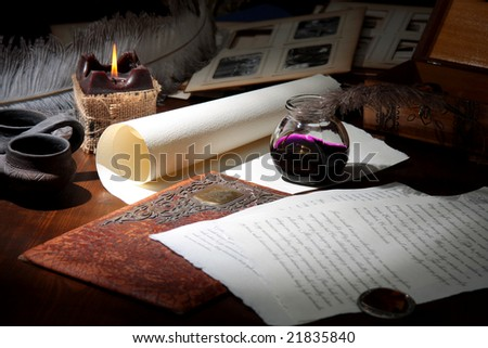 the old writer - stock photo