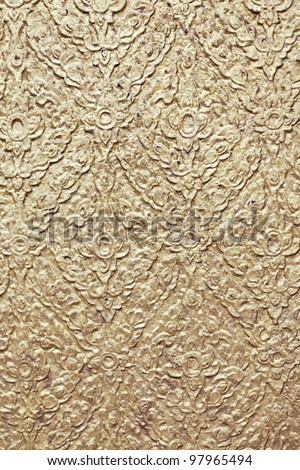 the olden golden background with golden patterns - stock photo