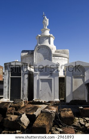 The oldest and most famous cemetery in New Orleans, opened in 1789 - stock photo