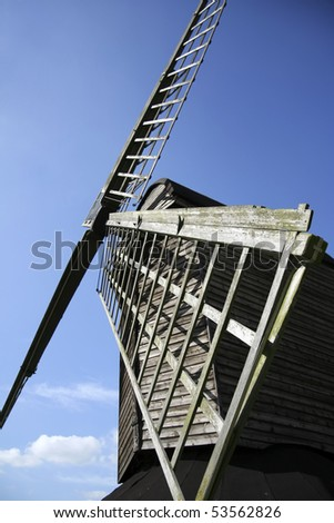 The oldest windmill in england in pitstone hertfordshire - stock photo