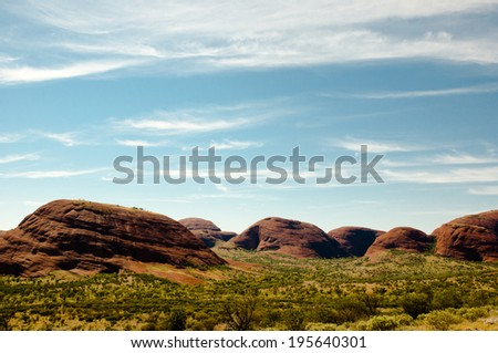 The Olgas - Northern Territory - Australia  - stock photo