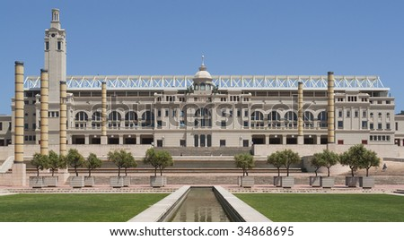 The Olympic Stadion in Barcelona in Spain - stock photo