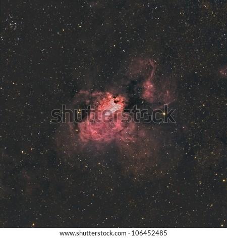The Omega or Swan Nebula - stock photo