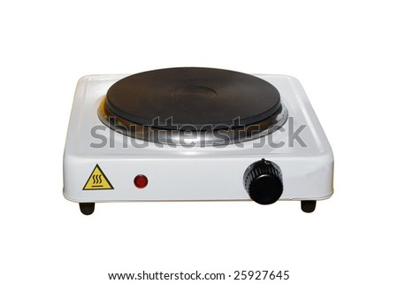 the one-hotplate electric cooker under the light background