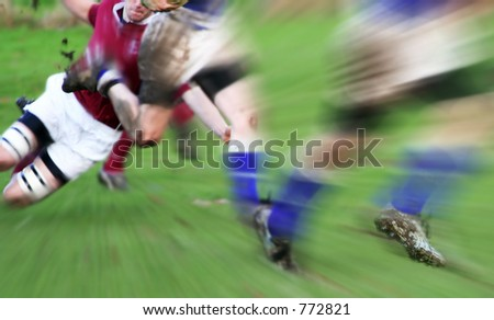 The One That Got Away. English Rugby action. - stock photo