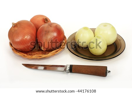 The onions are the integral component of every possible dishes - stock photo