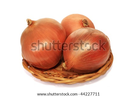 The onions are the integral component of set of dishes - stock photo