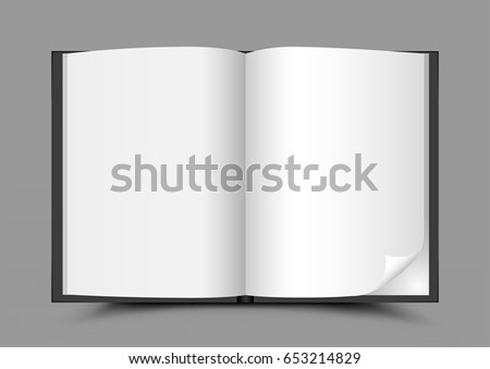 Standing Closed White Paper Book On Stock Vector 644430883 ...