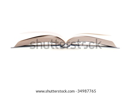 The open book image on white background