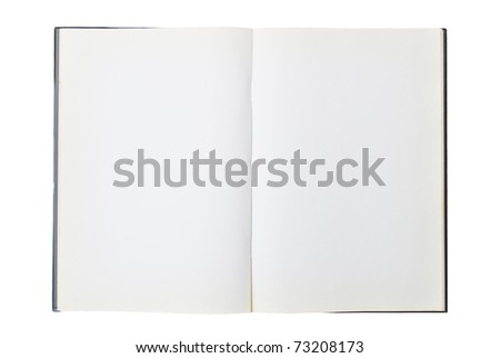 The open book is on the white background - stock photo