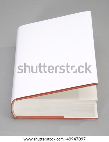 The opened Blank book with white cover