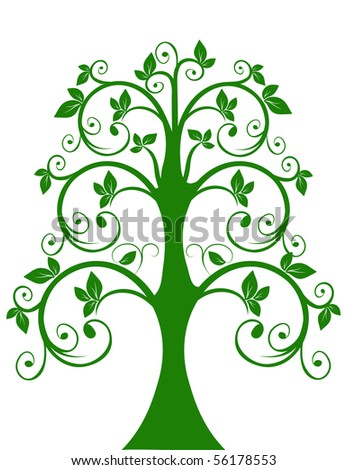 The openwork tree. Rastered image.