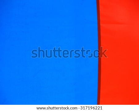 the orange and blue color on canvas