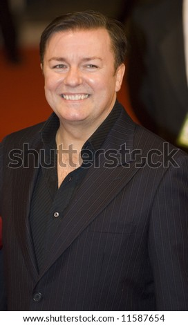 The Orange British Academy Film Awards 2008 held at the Royal Opera House on February 10, 2008 in London, England. Ricky Gervais