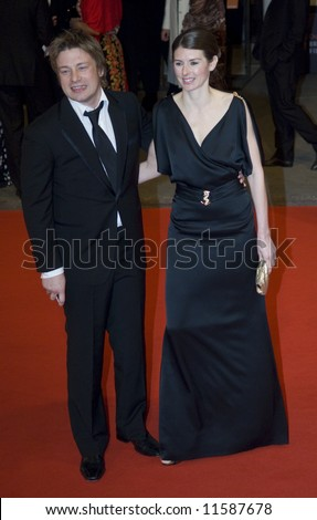 The Orange British Academy Film Awards 2008 held at the Royal Opera House on February 10, 2008 in London, England. Jamie and Jules Oliver - stock photo