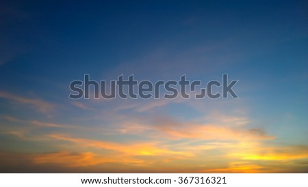 The orange cloud on sunset - stock photo
