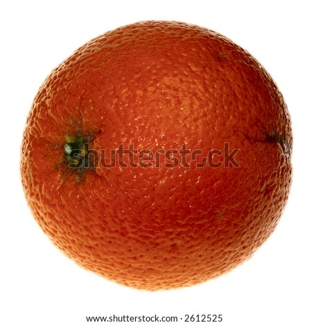 The orange on the white