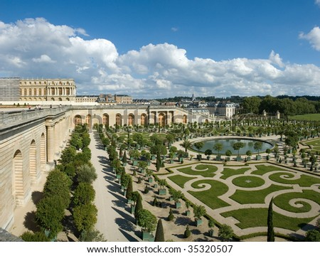 The Orangery in the castle of Versailles (France) - stock photo