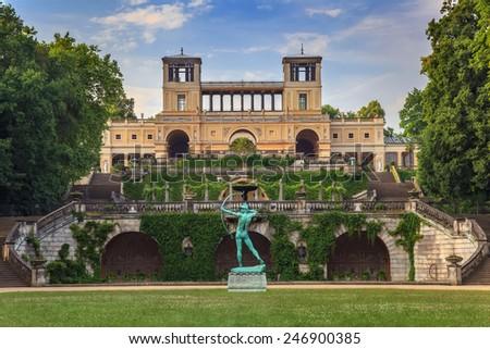 The Orangery Palace in Park Sanssouci, Potsdam, Germany - stock photo