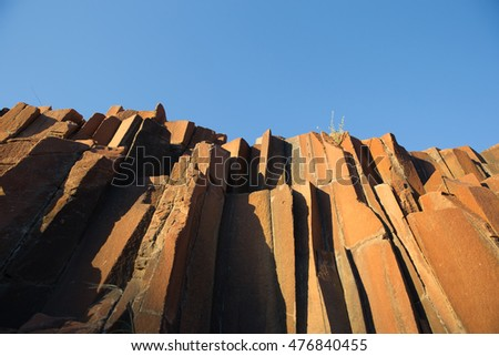 The Organ Pipes, a dolerite rock pillar formation