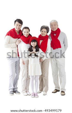 The Oriental family celebrate the new year