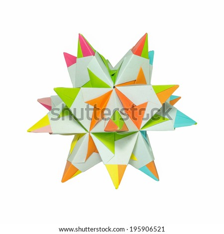 The origami polygon from paper. - stock photo