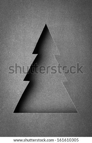 The original Christmas tree made of paper design - stock photo