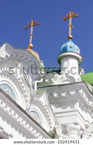 The Orthodox church details, Feodosiya, Ukraine - stock photo