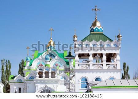 The Orthodox church details, Sudak, Ukraine - stock photo