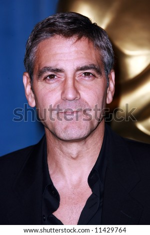 The Oscar Luncheon held at the Beverly Hilton Hotel, Los Angeles. George Clooney - stock photo