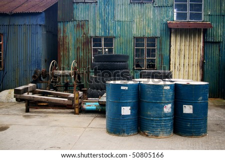 The outlook of ice factory - stock photo