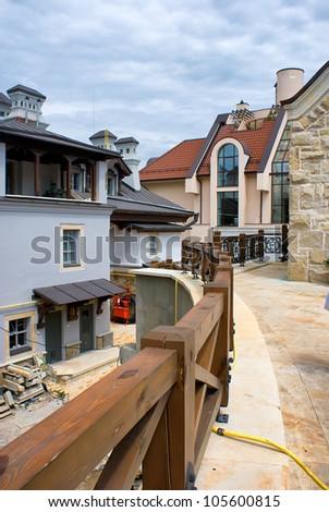 The overground level of Zverineckiy Cave Monastery - stock photo