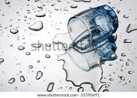 The overturned wine-glass - stock photo