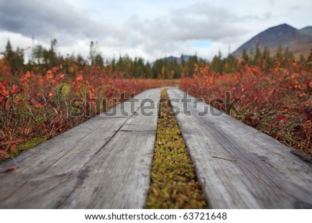 The Padjelantaleden - hiking trail in Lapland - stock photo