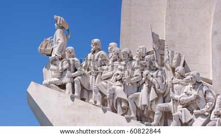 The Padrao dos Descobrimentos is a monument that is dedicated to the Portuguese who took part in the Age of Discovery in Belem, Lisbon, Portugal. - stock photo