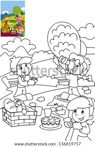 Page exercises kids coloring book illustration stock illustration 136819757 shutterstock